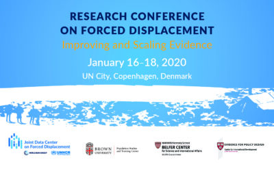 1st Research Conference on Forced Displacement