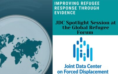 JDC Spotlight Session on Data and Evidence at the Global Refugee Forum 2019: Improving Refugee Response Through Evidence.