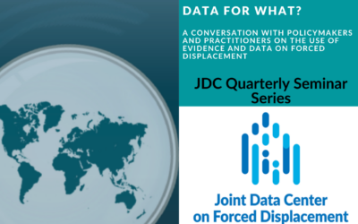 Data for what? A conversation with policymakers and practitioners on the use of evidence and data on forced displacement